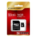 Карты памяти Silicon Power 16 GB microSDHC Class 10 + SD adapter SP016GBSTH010V10-SP