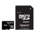 Карты памятиApacer 8 GB microSDHC Class 10 UHS-I + SD adapter AP8GMCSH10U1-R