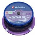 Verbatim DVD+R DL Printable 8,5GB 8x Spindle Packaging 25шт (43667)