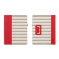 Чехлы и защитные пленки для планшетовGriffin Elan Folio для iPad 3/iPad 2 Cabana Stripe Red (GB04082)
