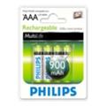 Аккумуляторы, батарейкиPhilips AAA 900mAh NiMh 4шт MultiLife (R03B4A90/10)