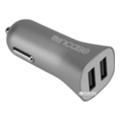 Зарядные устройства для мобильных телефонов и планшетовIncase High Speed Dual Car Charger Metallic Gray (CL90037)