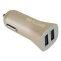 Зарядные устройства для мобильных телефонов и планшетовIncase High Speed Dual Car Charger Gold (CL90038)