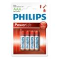 Аккумуляторы, батарейкиPhilips AAA bat Alkaline 4шт Power Alkaline (LR03P4B/97)