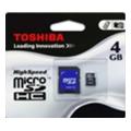 Toshiba 4 GB microSDHC class 4 + SD adapter