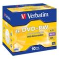 Verbatim DVD+RW 4,7GB 4x Jewel Case 10шт (43246)