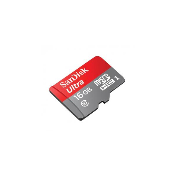 SanDisk 16 GB microSDHC Android Ultra + SD adapter SDSDQUAN-016G-G4A