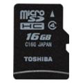 Карты памятиToshiba 16 GB microSDHC class 4