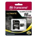 Карты памятиTranscend 16 GB microSDHC class 10 + SD Adapter TS16GUSDHC10