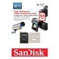 Карты памятиSanDisk 64 GB microSDXC High Endurance Video Monitoring Class 10 + SD adapter SDSDQQ-064G-G46A