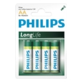Philips AA bat Carbon-Zinc 4шт LongLife (R6L4B/97)