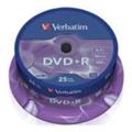 Диски CD, DVD, Blu-rayVerbatim DVD+R 4,7GB 16x Spindle Packaging 25шт (43500)