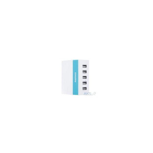 REMAX Young Home Charger (2.4A,5USB)Blue (RMX-YNG-245BL)