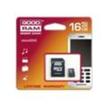 Карты памятиGoodRAM 16 GB microSDHC class 4 + SD Adapter