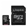 Карты памятиKingston 64 GB microSDXC class 10 + SD Adapter SDCX10/64GB