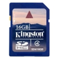 Карты памяти Kingston 16 GB SDHC Class 4 SD4/16GB