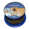 Диски CD, DVD, Blu-ray Verbatim DVD-R Printable 4,7GB 16x Spindle Packaging 50шт (43533)