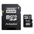 Карты памяти GoodRAM GOODRAM 4 GB microSDHC class 4 + SD Adapter
