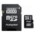 Карты памятиGoodRAM GOODRAM 4 GB microSDHC class 4 + SD Adapter