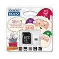 Карты памятиGoodRAM 8 GB microSDHC class 4 Xmas pack USDR48GBR9+X