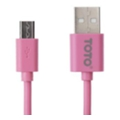 Toto TKG-17 High speed USB cable microUSB 0,9m Pink