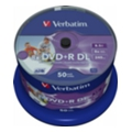 Verbatim DVD+R DL Printable 8,5GB 8x Spindle Packaging 50шт (43703)