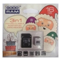Карты памятиGoodRAM 16 GB microSDHC class 4 Xmas pack USDR416GBR9+X