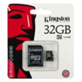 Карты памяти Kingston 32 GB microSDHC class 10 + SD Adapter SDC10/32GB