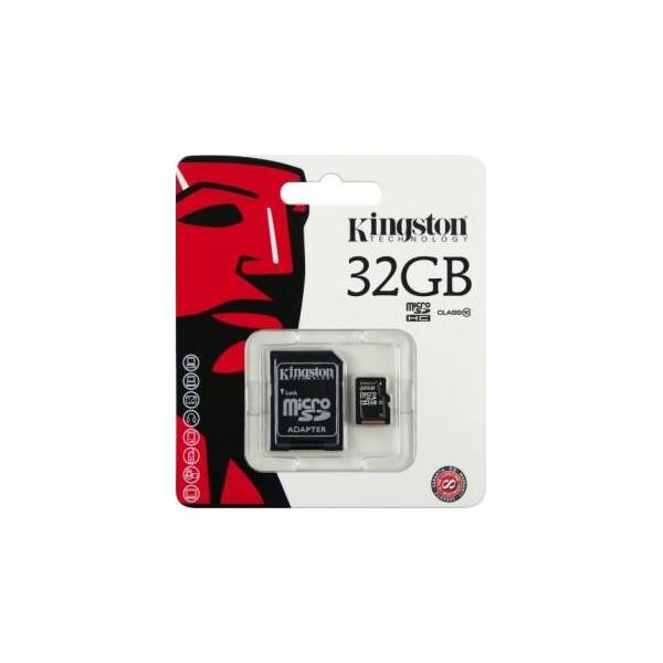 Kingston 32 GB microSDHC class 10 + SD Adapter SDC10/32GB