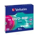 Verbatim DVD-RW 4,7GB 4x Slim Case 5шт (43563)