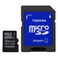 Карты памятиToshiba 8 GB microSDHC Class 10 UHS-I + SD adapter SD-C008UHS1