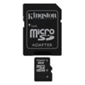 Карты памятиKingston 8 GB microSDHC class 4 + SD adapter SDC4/8GB