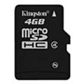 Карты памятиKingston 4 GB microSDHC class 4 SDC4/4GBSP