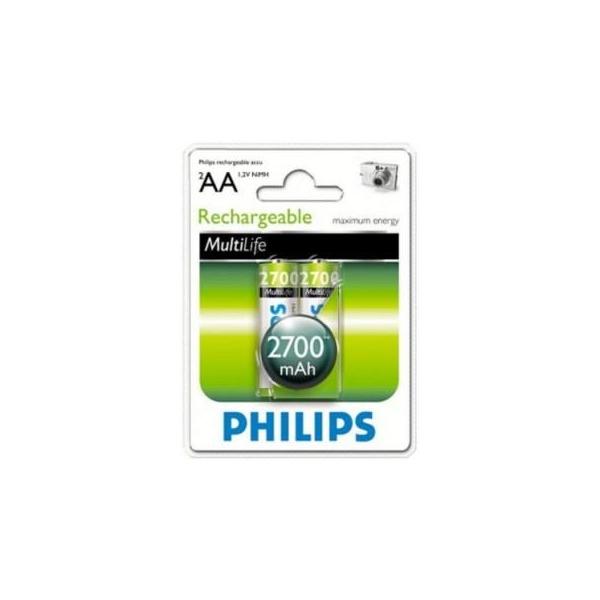 Philips AA 2700mAh NiMh 2шт MultiLife (R6B2A270/10)