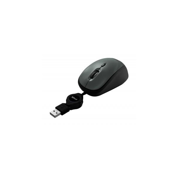 Trust Yvi Retractable Mouse Black USB