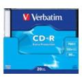 Verbatim CD-R Printable 700MB 52x Slim Case 20шт (43439)