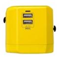 Зарядные устройства для мобильных телефонов и планшетовMomax 1 World USB Travel Adapter AC port (UK/EU/US/JP/CN/AU) Yellow (UA1Y)