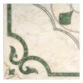 Интеркерама Castello зеленая 430x430