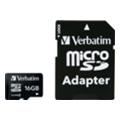 Карты памятиVerbatim 16 GB microSDHC class 4 + SD Adapter (43968)
