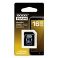 Карты памятиGoodRAM 16 GB microSDHC class 10 UHS1 + SD Adapter SDU16GHCUHS1AGRR10