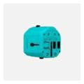Зарядные устройства для мобильных телефонов и планшетовMomax 1 World USB Travel Adapter AC port (UK/EU/US/JP/CN/AU) Blue (UA1B2)